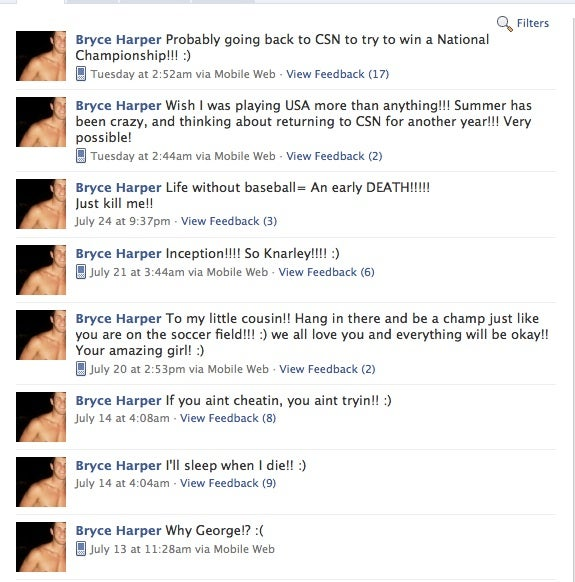 Is Bryce Harper's Facebook Page Real?