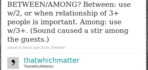 ThatWhichMatter Delivers Grammar Tips in Tweets