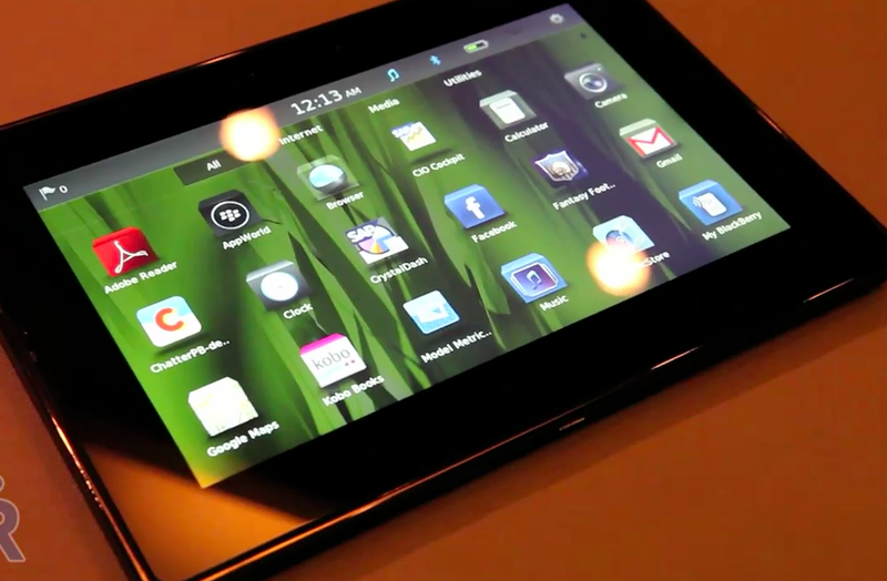 The BlackBerry PlayBook Gets Its Video Close Up