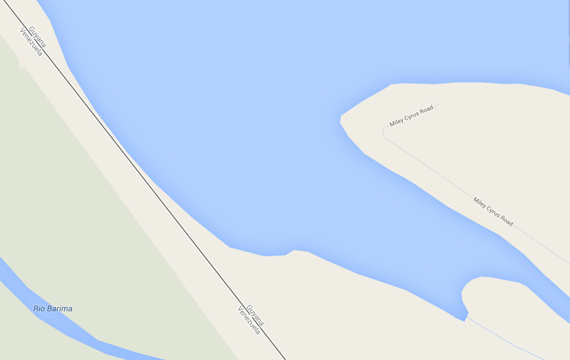 There Is a Miley Cyrus Road in Guyana, According to Google Maps