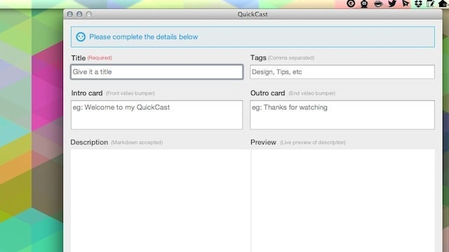 QuickCast Is a Simple Way to Make and Publish Short Screencasts