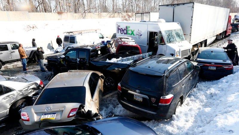 Hundred-Car Pileup Shuts Down Pennsylvania Turnpike, Injures 30