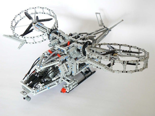 Motorized Lego Technic Avatar Helicopter is Grounded—For Now