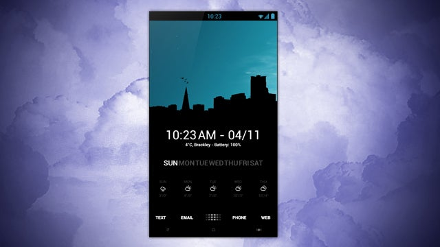 The Skyline Silhouette Home Screen