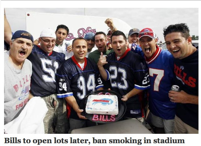 Bills Fan's Cock 'N' Balls Make The Newspaper (SFWish)