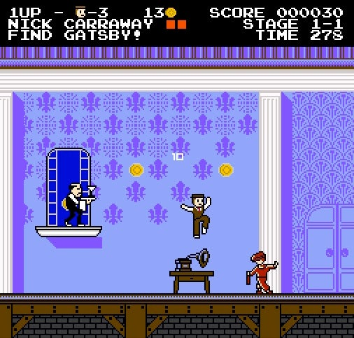 Finally The Great Gatsby Is a Nintendo-Style Video Game