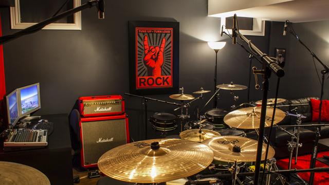 The Designer and Drummer's Rocking Workspace