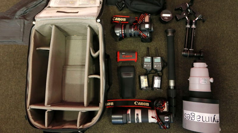 The Contents of an Olympics Photographer's Bag