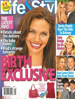 "This Week In Tabloids: Angelina's ""Exclusive"" ""Birth"" & ""Collapse"""