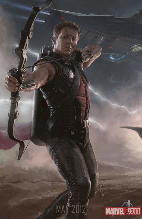 First Real Look at Hawkeye from The Avengers