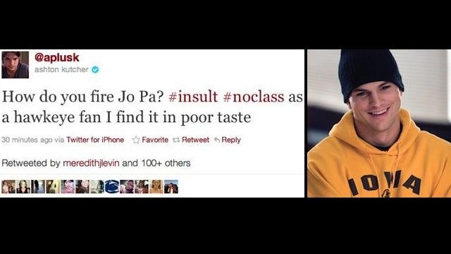 America Tips Ashton Kutcher Like WTAJ News Van After Paterno Tweet