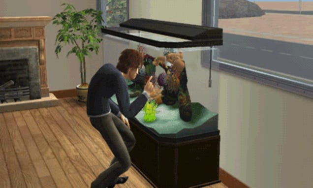 Asshole Sims Won't Let Fish Babies Sleep
