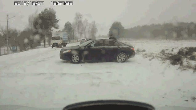 How Not To Push Your Car Out Of The Snow