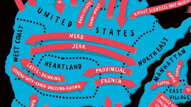 The World Map Of Useless Stereotypes