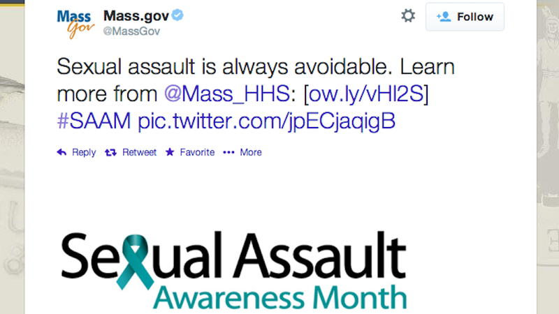 State of Massachusetts Declares Sexual Assault 'Always Avoidable'