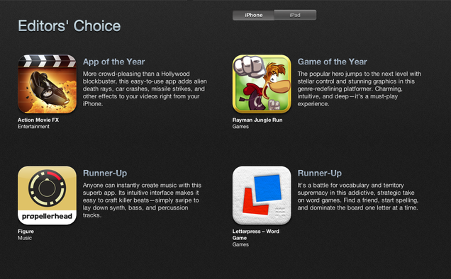 Apple's iPhone App of the Year Is a Joke, Right?