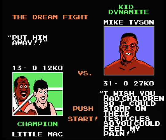 Punch-Out Screens Plus Real Mike Tyson Quotes
