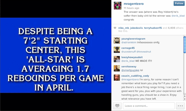 Gilbert Arenas Lives To Hate On Roy Hibbert