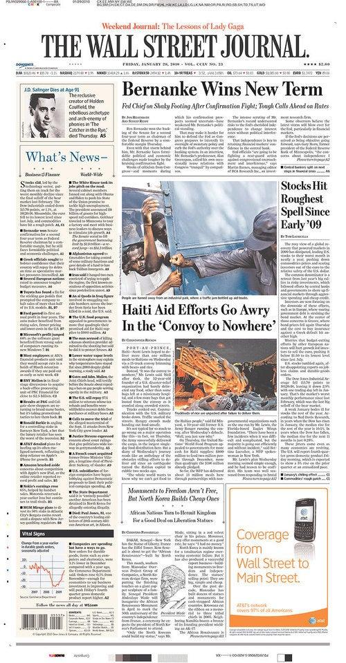 Ben Bernanke, Cover Star
