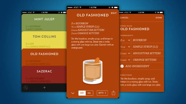 Highball for iPhone Collects and Shares Cocktail Recipes