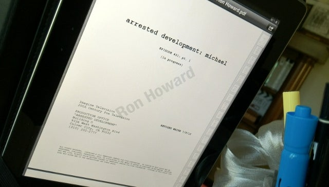 Ron Howard Tweets Pic of First Script for Arrested Development Revival