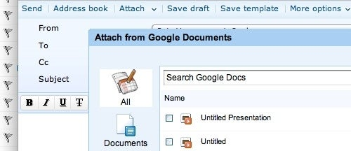 Attach and Post Google Documents from Zoho