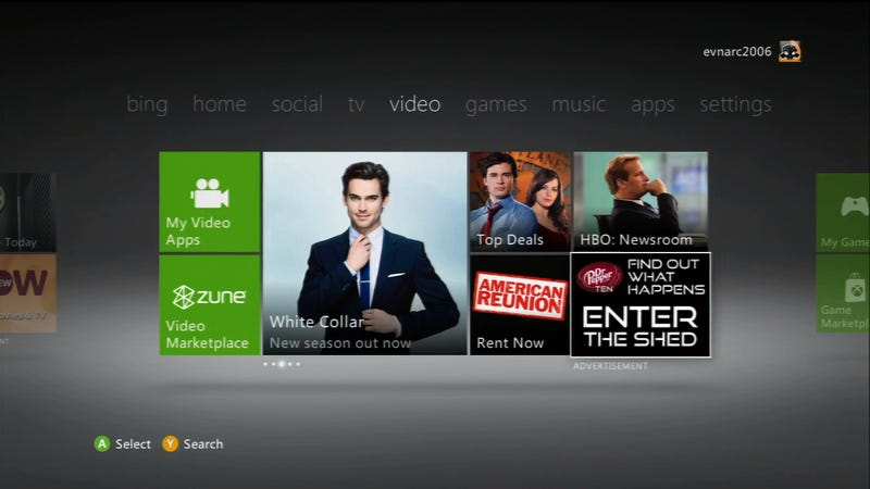 It Costs A Lot of Money To Shove Ads in Your Face on Xbox Live