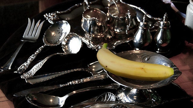 Polish Silverware with Banana Peels