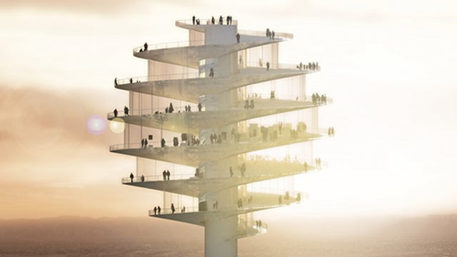 Phoenix's new observation tower looks like a massive honey dipper