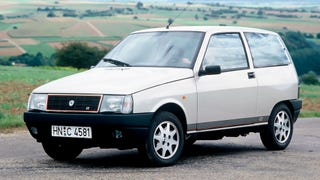 [I just bought a 1992 Lancia Y10 GT i.e. for $270 for its 78 hp fuel injected 1.3 that I'll put into my 1985 Autobianchi A112 that currently has less than 48 hp. How hard can it be? I'll keep you posted. Photo credit: Lancia]