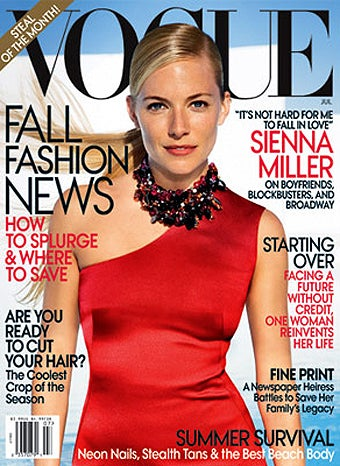 """Why Is """"Toothy"""" Sienna Miller On The Cover Of Vogue Again?"""