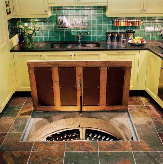 Door in the Floor Leads to Amazing Spiral Wine Dungeon