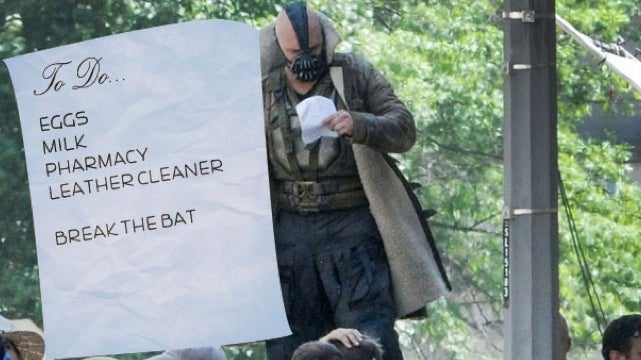 You tell us what Bane is reading on this piece of paper
