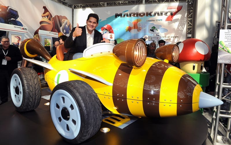 Call the Cops, Nintendo's Reggie Drives Like a Maniac
