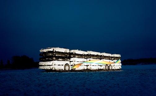 50 Cars Assemble 1 Bus