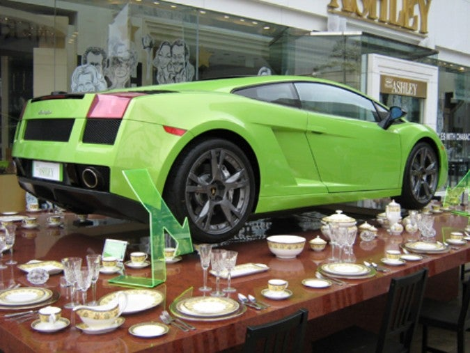 Lamborghini on teacups?