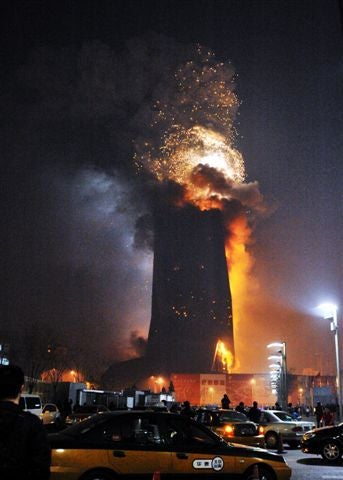 Building Near Beijing's Rem Koolhaas-Designed CCTV Headquarters is Up in Flames