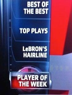 Next On SportsCenter: LeBron's Nightmarish Hairline