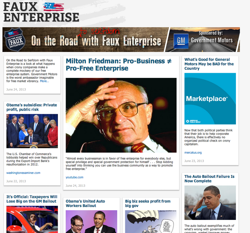 GM Sponsors 'Free Enterprise' As It Hopes You'll Forget Bailout