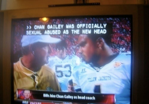 Poor Chan Gailey Can't Even Get Respect From Closed Captioning