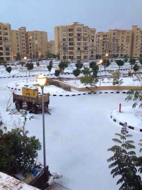 Snow in Egypt For the First Time in 112 Years