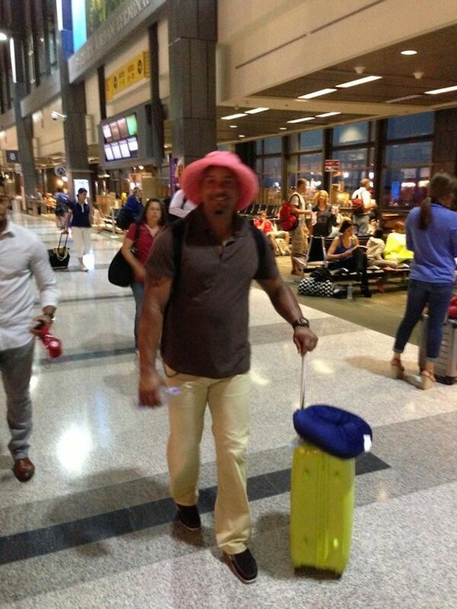 Here's Manny Ramirez Disguised As Your Grandmother At The Airport