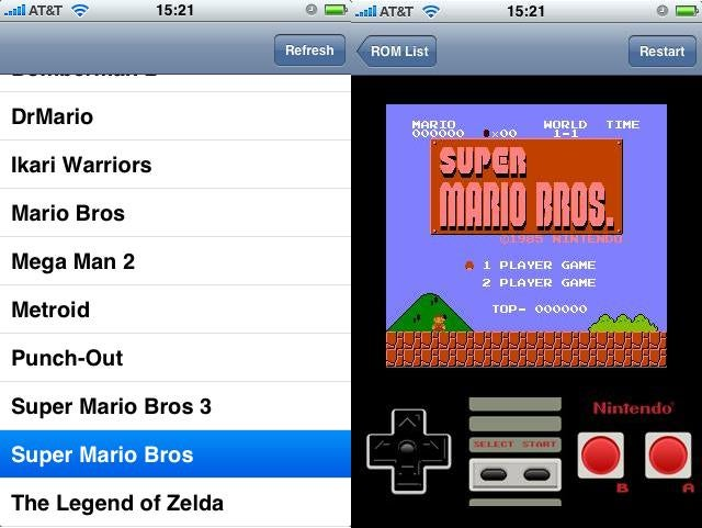 iPhone NES Emulator Third Party App