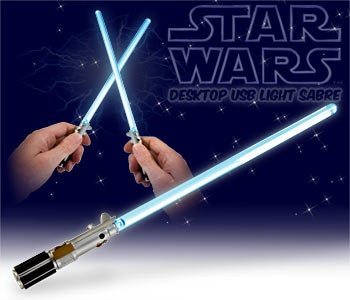 "Star Wars Mini-Lightsabre Requires Obligatory ""Swooosh"" Mouth Effects"