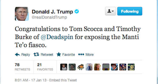 A Very Important Message From Donald Trump