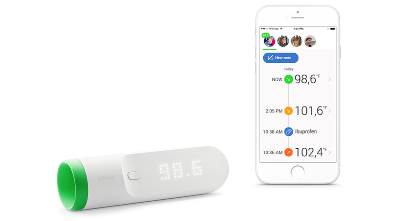 Withings Unveils Thermo, an Ultra Fast Wi-Fi Connected Temporal Thermometer