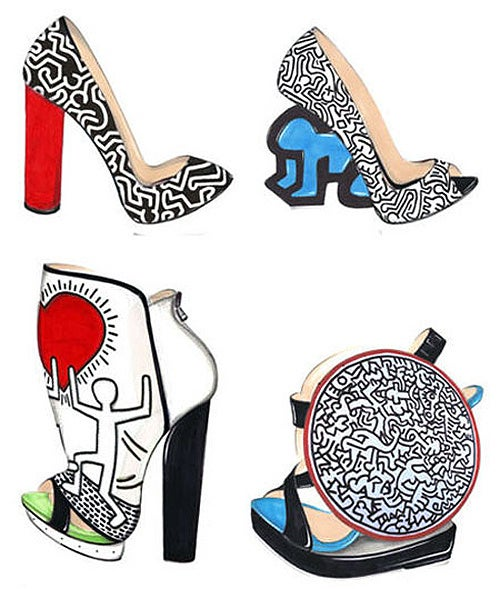 Nicholas Kirkwood's New Shoe Designs Honor The Late Keith Haring