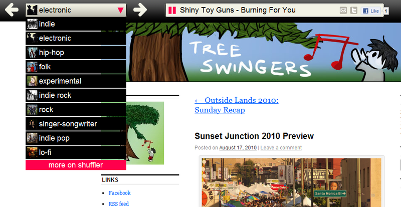 Shuffler.fm Plays a Continuous Stream of Songs Directly from Music Blogs