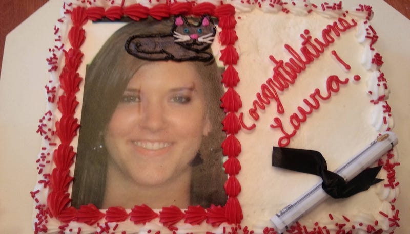 Misheard Request Dramatically Improves Otherwise Bland Graduation Cake