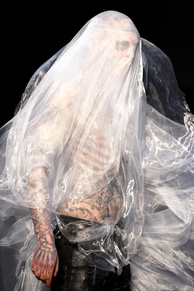 Lady Gaga Opens Paris Fashion Week with Zombies in Plastic Bags